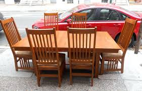 Amish Oak Dining Room Furniture Dining Chairs Impressive Chairs Colors Mission Style Oak Dining