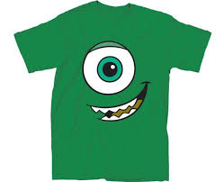 Mickey Mouse Halloween Shirt by Amazon Com Monsters Inc I Am Mike Cyclops Green T Shirt