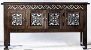Spanish Colonial Furniture by Cruz Helvetica Credenza Southwest Furniture Santa Fe Style