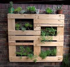 Pallet Ideas For Garden Wooden Pallet Vertical Garden Ideas Recycled Things