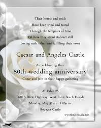 50th wedding anniversary poems 50th wedding anniversary party invitation wording wordings and