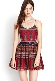 fit and flare dress forever 21 forever 21 paisley fit flare dress lyst