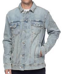 Light Jean Jacket Empyre Trapper Light Pastel Blue Denim Jacket Zumiez