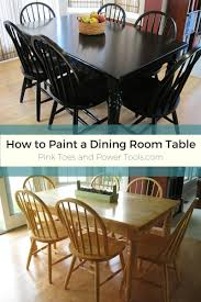 How To Paint A Dining Room Table by Painting The Dining Room Table Post 5 Finished Maybe Pink