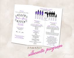 tri fold wedding programs 42 best tri fold wedding programs images on tri fold