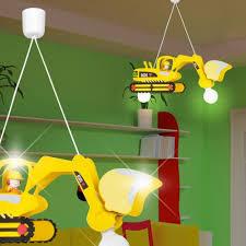 suspension chambre enfant bodo pelleteuse balises à accrocher enfant jaune le