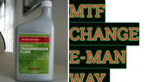 8th gen manual transmission fluid change no syringe youtube