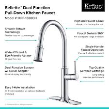Kitchen Faucet Installation Kraus Sellette Pull Single Handle Kitchen Faucet Reviews