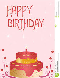 design a cake happy birthday card stock vector illustration of object 36232803