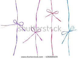 thin ribbon set ropes bows thin ribbon made stock photo 426896629