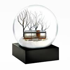 glass house snow globe philip johnson glass house store