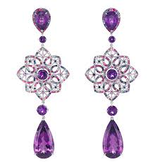 purple earrings chopard earrings from carpet collection purple amethyst