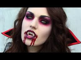 Vampiress Halloween Costumes Scary Vampire Halloween Tutorial Makeup Hair U0026 Costume