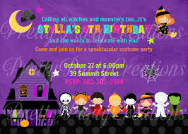 Halloween Birthday Ideas Halloween Birthday Invitations U2013 Gangcraft Net