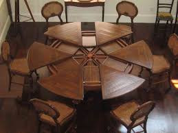 What Size Round Table Seats 10 Dining Room Prominent Solid Wood Dining Table Seats 10