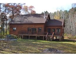 one story log cabins siren spooner shell lake waterfront and lake property northwest