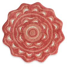 Coral Bathroom Rug Buy Coral Colored Bath Rugs From Bed Bath Beyond