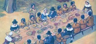 scholastic thanksgiving feast bgpilgrims first thanksgiving jpg