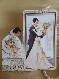 handcrafted by helen art deco wedding cards