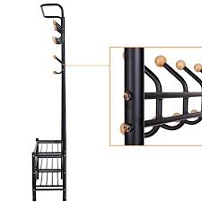 lantusi multifunctional stainless steel coat rack clothes hat bags