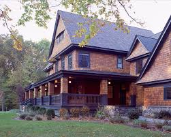 cedar shake vinyl siding exterior victorian with brown painted