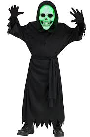 Kids Light Halloween Costume Light Soul Reaper Child Costume Purecostumes