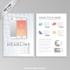 brochure template with a smartphone vector free download