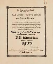Tad Jones by Knute Rockne Psa Autographfacts