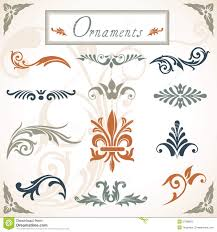 scroll ornaments stock image image 27380601