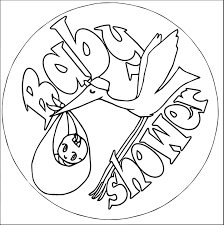 baby shower pictures bird transport coloring page wecoloringpage