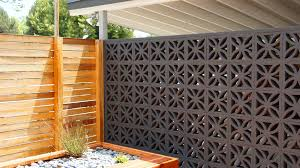 Modern Fence by Midcentury Modern Brick Screens A Classic Think Breakfast At