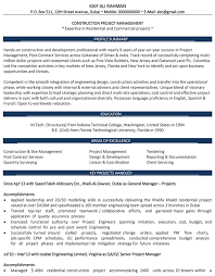 Sample Real Estate Resume by Construction And Real Estate Cv Format U2013 Construction And Real