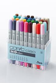 copic ciao 36 e set of copic ciao markers from graphics direct