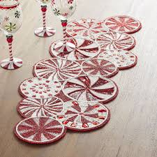 hand beaded table runners peppermint candy cane beaded table runner 80 pier 1 imports