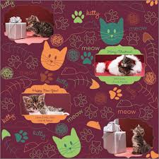 cat christmas wrapping paper pet wrapping paper for dog and cat by giftskins