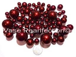 Fruit Vase Filler 80 Burgundy Red Wine Pearls Vase Fillers Decor For Events