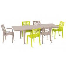 chaises grosfillex lot 32 chaises de jardin taupe design vegetal grosfillex
