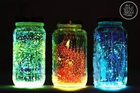 how to make colorful glowing jar lights home design garden