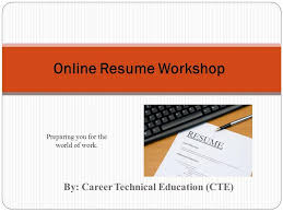 Resume Writing Classes Online by Resume Writing Workshop Ppt Contegri Com
