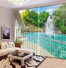2016 fashion 3d home decor beautiful 3d window curtains for