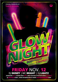 party flyer free glow night party flyer psd template other psd free download