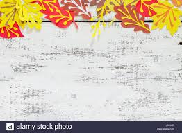 autumn frame colorful leaves of trees children u0027s art project