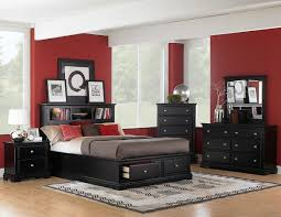 Black And White Bedroom Furniture Sets Classical Bedroom Furniture Set Laminated Wooden Floor Black And