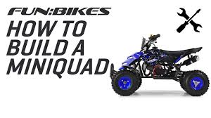 funbikes mini 49cc quad bike assembly video youtube