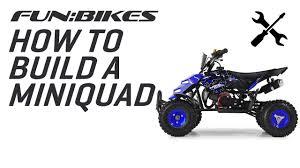 funbikes mini 49cc quad bike assembly video youtube