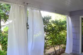 back porch living a secret for hanging curtains u2013 beautiful objects