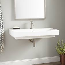wall mounted sink cabinet porcelain wall mount sink signature hardware