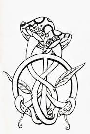 tattoo designs mushroom and love tattoo design
