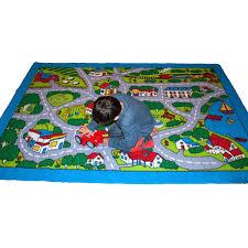 children area rugs kids rug street map in grey 5 x 7 children area rug non skid gel