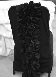 Ruffled Chair Covers Black Spandex Chair Cover With Simple Gold Sash Chair Covers